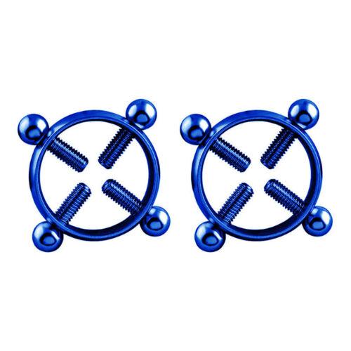1Pc Round Non-Piercing Nipple Ring Shield Body Piercing Jewelry Screw  K