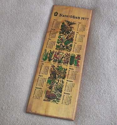 1977 Kalender Lang Für Geburtstag Jubiläum Wandkalender Holz Vögel Eule Ddr (k) HüBsch Und Bunt