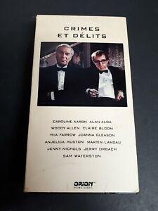 Crimes-Et-Delits-1989-VHS-French-Version-Woody-Allen-19th-Films