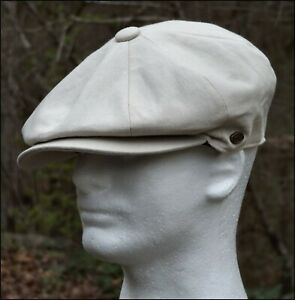 519094b2b89dc Cotton Newsboy Gatsby Cap Summer Ivy Hat Men Golf Flat Cabbie ...