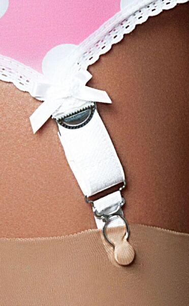 Retro englische Miederstrumpfhalter Ladybird  6 Straps mit Metallclips