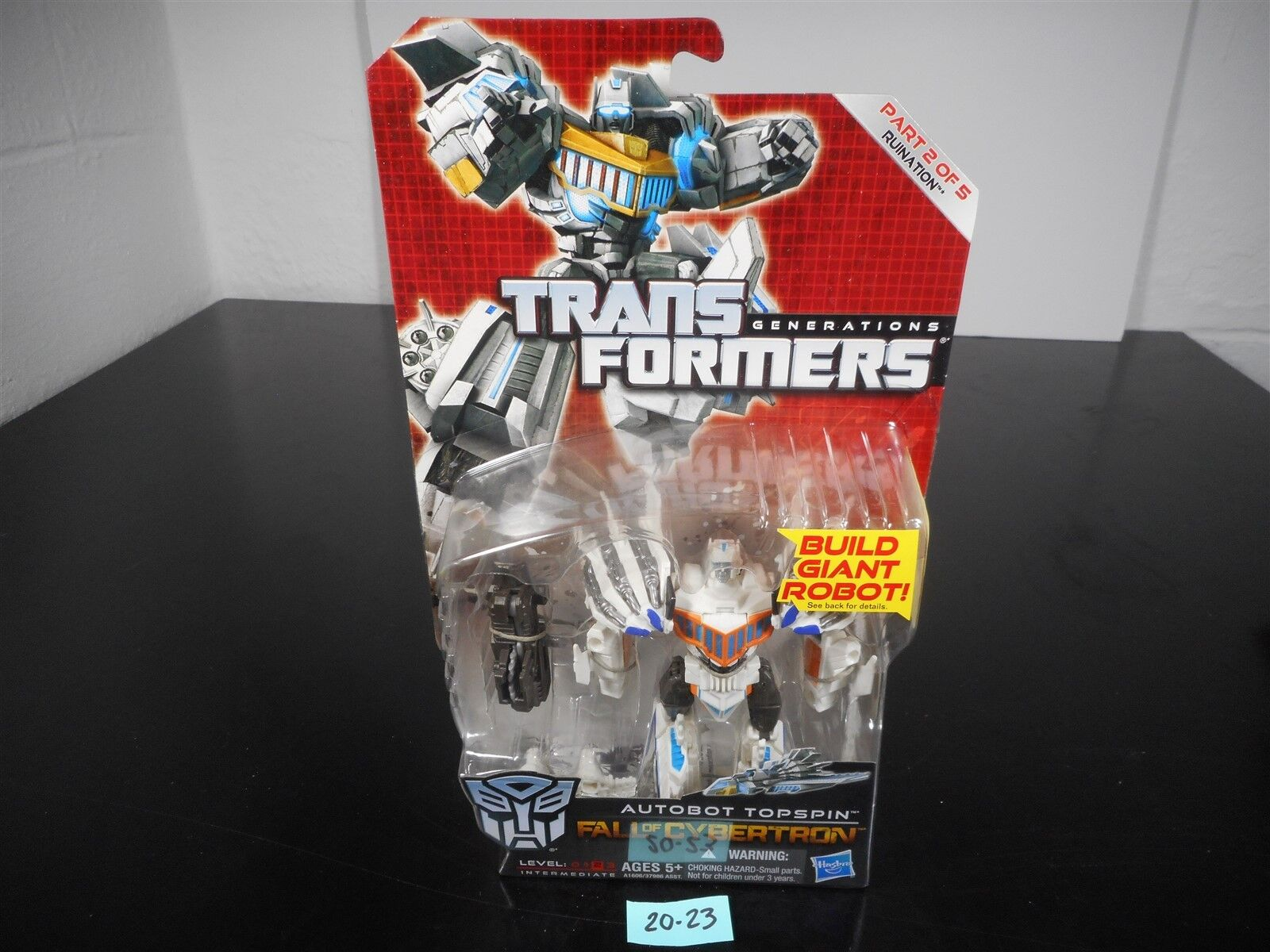 NEW & SEALED TRANSFORMERS GENERATIONS FOC AUTOBOT TOPSPIN RUINATION 2 OF 5 20-23