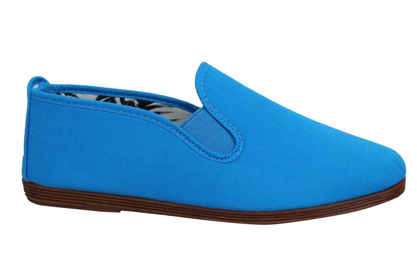 Flossy Style Arnedo Unisex Espadrille Slip On Plimsolls Shoes 55 Blue