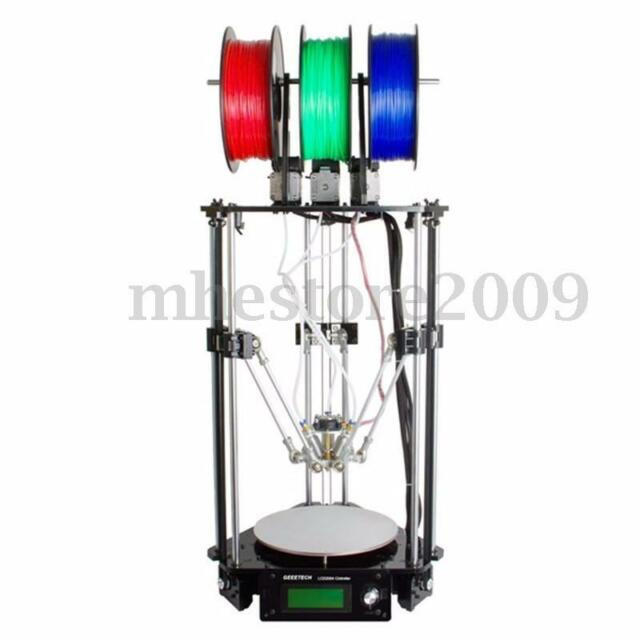 Geeetech Delta Rostock 301 Pro 3D Printer DIY  3-in-1-out Triple-color Extruder