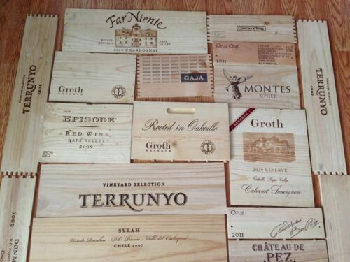 ONE SQUARE METRE OF FRENCH WINE WOODEN BOX END PANEL WALL PLAQUE HOME BAR PUB