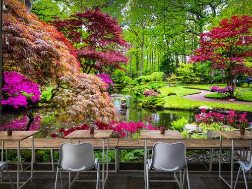 3D Traditional Garden Landscape Self-adhesive Living Room Wall Murals Wallpaper
