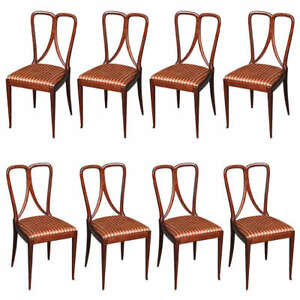 Image Is Loading Set Of 8 Dining Chairs By Guglielmo Ulrich