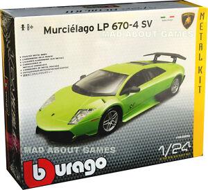 Lamborghini-Murcielago-1-24-Modelos-Diecast-Kit-Modelo-Die-Cast-modelos-de-automoviles-Verde