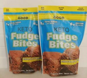 2 bags Keto Fudge Bites Du Good Exp Snacks Trader Joe's Chocolate Sealed joes