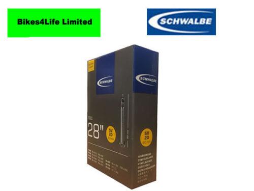 1 X SCHWALBE SV20-700 X18-25c  CYCLE BIKE INNER TUBE  PRESTA//FRENCH VALVE 60MM