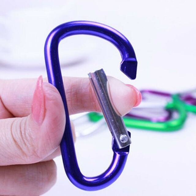6-Pack Aluminum Snap Hook Carabiner D Ring Key Chain Clip Keychain Small Keyring