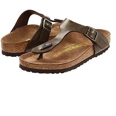 Authentic Birkenstock Gizeh Birko Flor Golden Brown Summer Sandals for Women | eBay