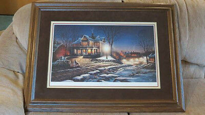 Terry Redlin Quot Lights Of Home Quot Print Limited Edition