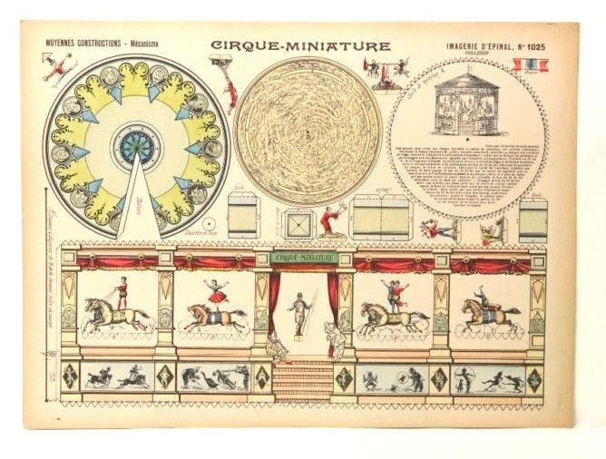 Imagerie d'epinal no 1025 Cirque en miniatura, construcciones moyennes modelo de papel