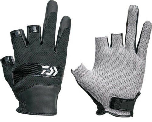 Daiwa DG-30009 3 Finger Angeln Netz Handschuh Nano Vorne Schwarz Japan Tracking