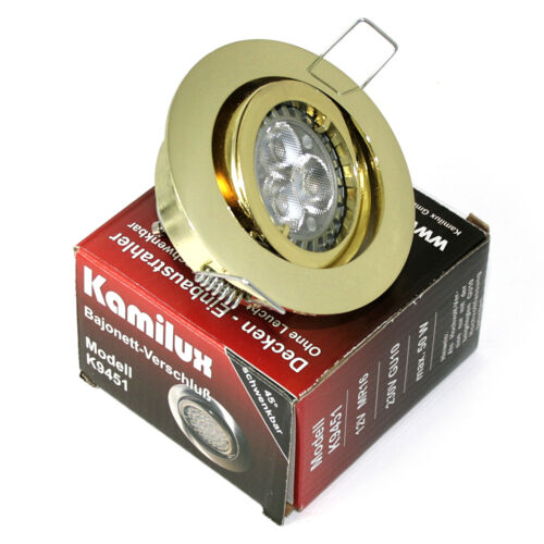 230V Feuchtraum geeign Einbaustrahler 5W HIGH Power LED Leuchtmittel 5W = 50W
