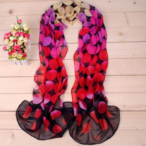 160 50cm Colourful Circles Patterned X114 Fashion Ladies Scarves Womens Shawls