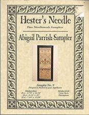 Abigail Parrish Sampler - Hester's Needle - Cross Stitch Pattern