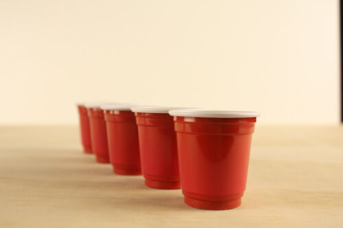 30 X Red American Plastic Shot Cups College Glasses Mini Shot Small 60ml Shooter