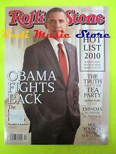 ROLLING STONE USA MAGAZINE 1115/2010 Barak Obama Ron Wood Freja Nicki Minaj Nocd