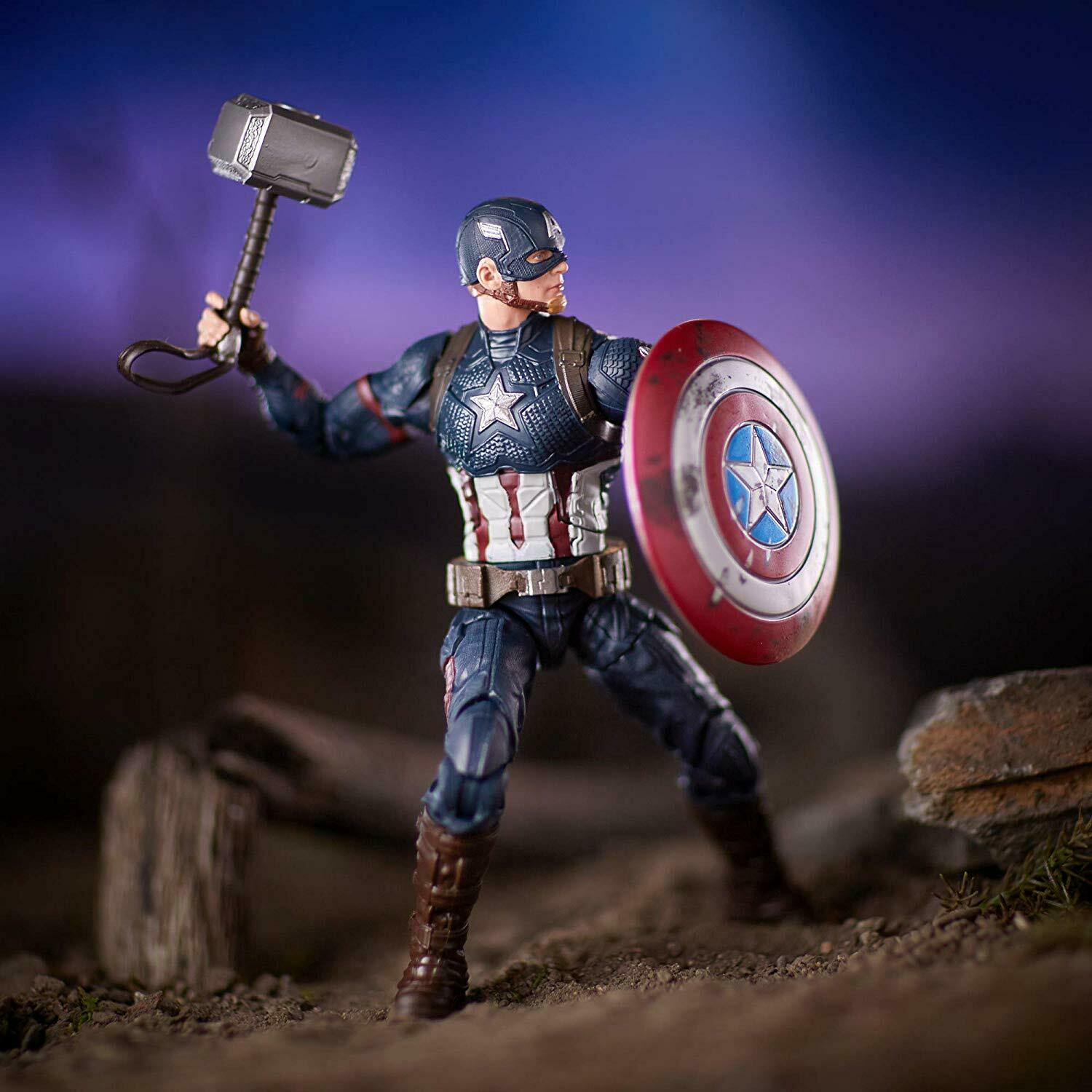 Marvel Legends Series Avengers Worthy Captain America with Mjolnir Exclusive 6in