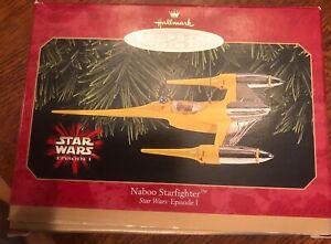 Vintage Keepsake Hallmark Ornament Star Wars NABOO STARFIGHTER ~  1999