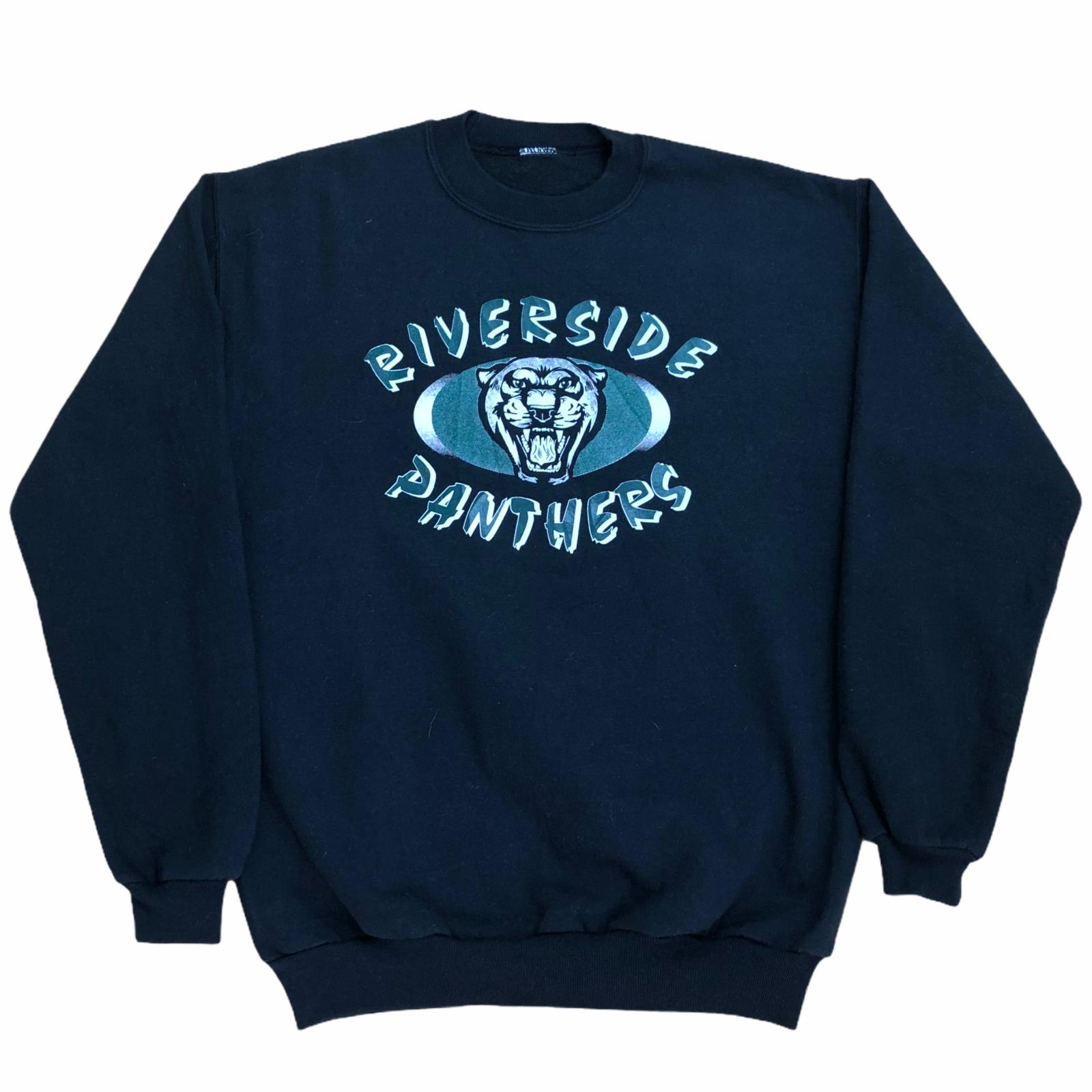 Vintage 90s Riverside Panthers USA Graphic Sweatshirt Jumper Crewneck Size S