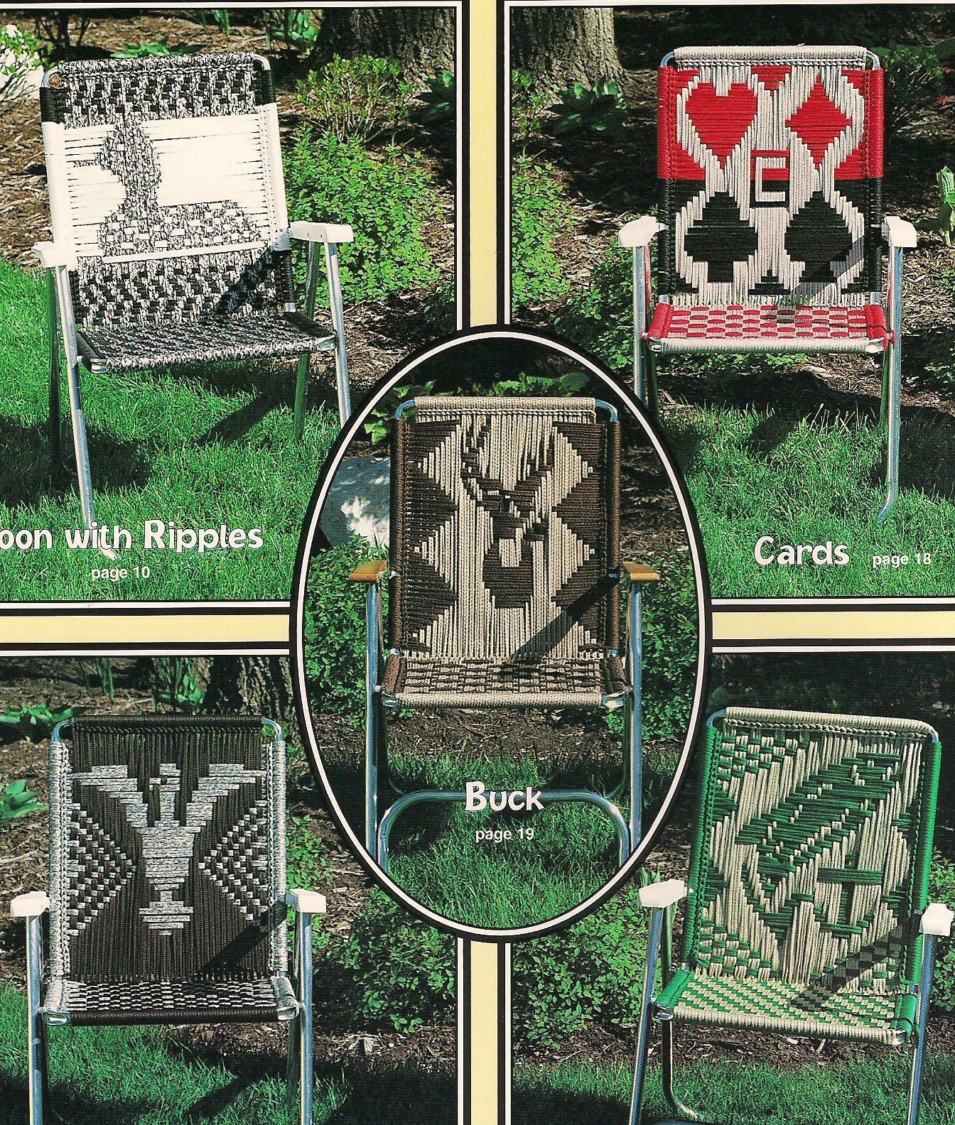 Macrame Lawn Chair Patterns Golfer Fish Buck Sailboat Eagle Duck Seat Yourself For Sale Online Ebay