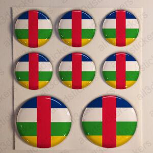 Pegatinas-Republica-Centroafricana-Pegatina-Bandera-Relieve-3D-Vinilo-Adhesivo