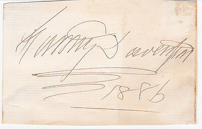 "Etc ""fedora"" 100% Quality Fanny Davenport Anglo-american Stage Actress 1886 Autograph Easy And Simple To Handle"