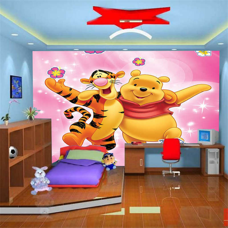 Nice Panda And Tiger 3D Full Wall Mural Photo Wallpaper Printing Home Kids Decor