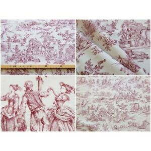 Coupon-fabric-toile-de-jouy-thevenon-four-seasons-bordeaux-bottom-roller