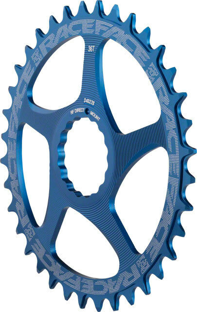 Race Face Single Narrow Wide 1x MTB Direct Mount Cinch Chainring 36t blueee