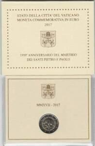 Vaticaan-2-euro-2017-UNC-Pontificatie