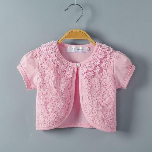 Enfant Bébé Filles Dentelle Princesse BOLERO Cardigan Shrug Tops Vêtements