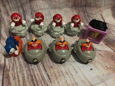 Sonic The Hedgehog Mcdonalds Happy Meal Toy Lot Of 9 1993 1994