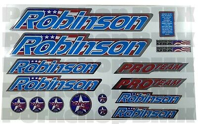 Officially licensed Robinson old school BMX decal set 1987-1990 on CLEAR