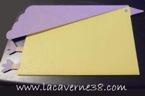 2-Pochettes-cadeaux-jaune-et-violet-papier-75x50mm-avec-carton-message