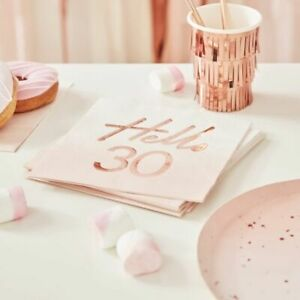 30th-birthday-Napkins-Pink-Ombre-Rose-Gold-Blush-Party-Decorations-Milestone