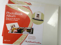 Photobook Album For Unibind Binding System-white 8 /2 X 11 Landscape -2-new