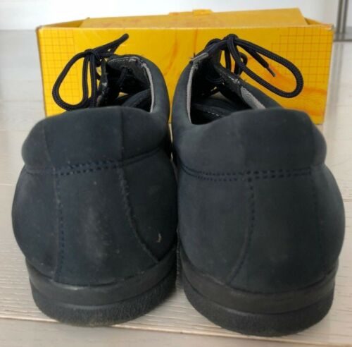 Scholl scatola Suede Shoe D Size Comfort Softstep in 7 Up Navy Nuovo Lace qCE5SnwH