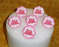 It's a Girl,Cupcake Ring,Plastic,DecoPac,Pink,Baby Shower,Party Favor, Topper