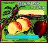 Milton Oregon Hopson's Apple Apples Fruit Crate Label Vintage Art Print