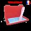 miniature 1 - Boite-de-rangement-rouge-et-attache-rose-pour-masque