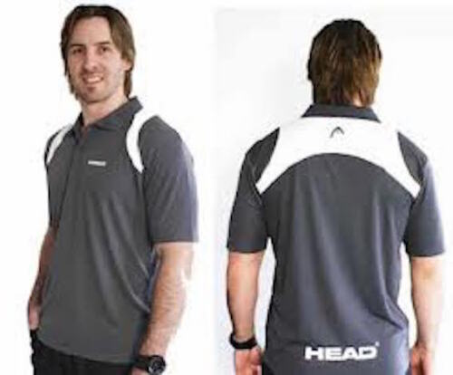 Head Men's Polo Grey & White Small
