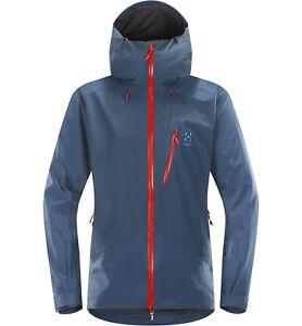 Details zu Haglöfs Niva Jacket Men 2L Jacke für Herren Skijacke blue ink Größe XL
