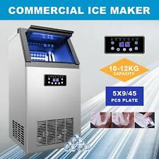Commercial Ice Maker Automatic Stainless Steel 110lbs24h Freestanding Portable