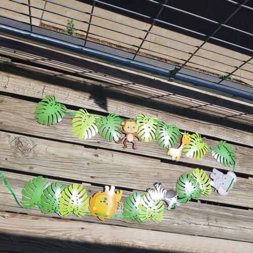 Animal Banner Jungle Safari Theme Children Birthday Party Decorations Supplies
