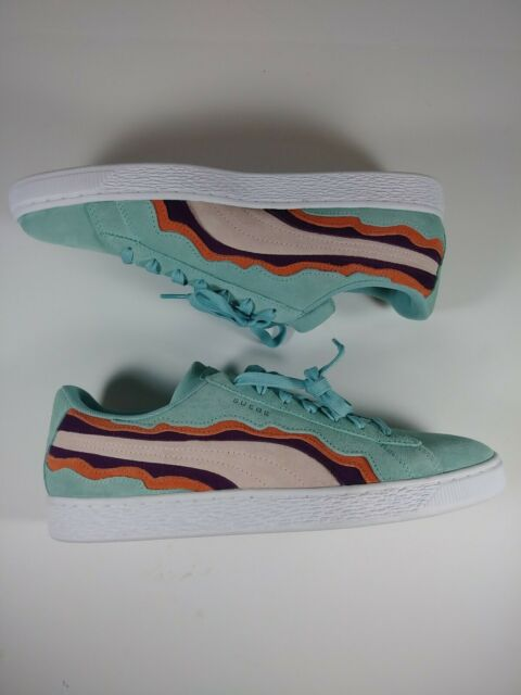 sports shoes 10c35 e26c4 New Puma Suede Classic Low Coast Men Multi Sneakers Size 10.5 Teal Red