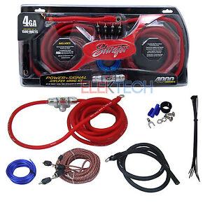 stinger sk4641 power signal amplifier wiring kit 4 ga 1500 watt 150 rh ebay com